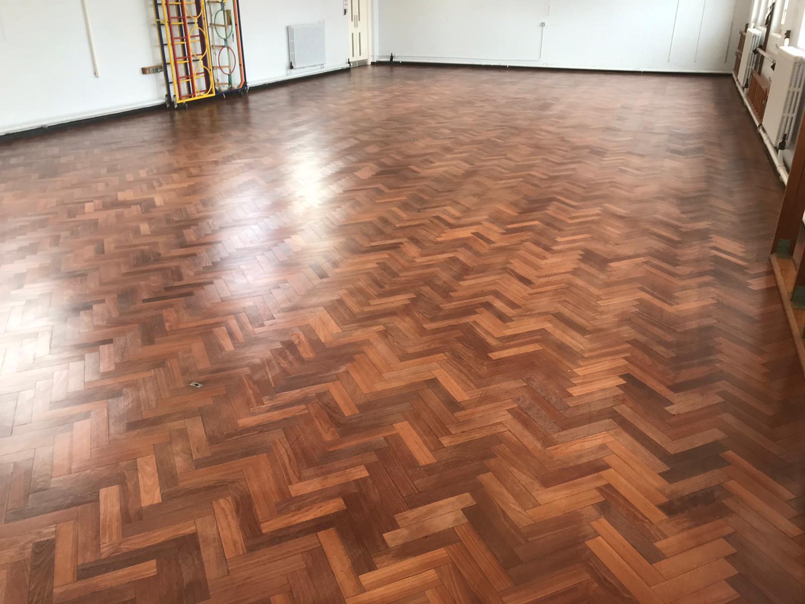 Sand & Seal wood block floor restoration