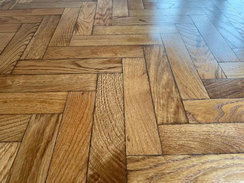domestic reclaimed herringbone installation Supplied, installed, sanded & sealed